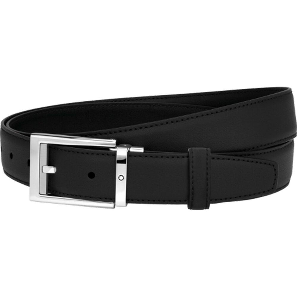 Ремень Montblanc Cintura elegante pelle nera liscia