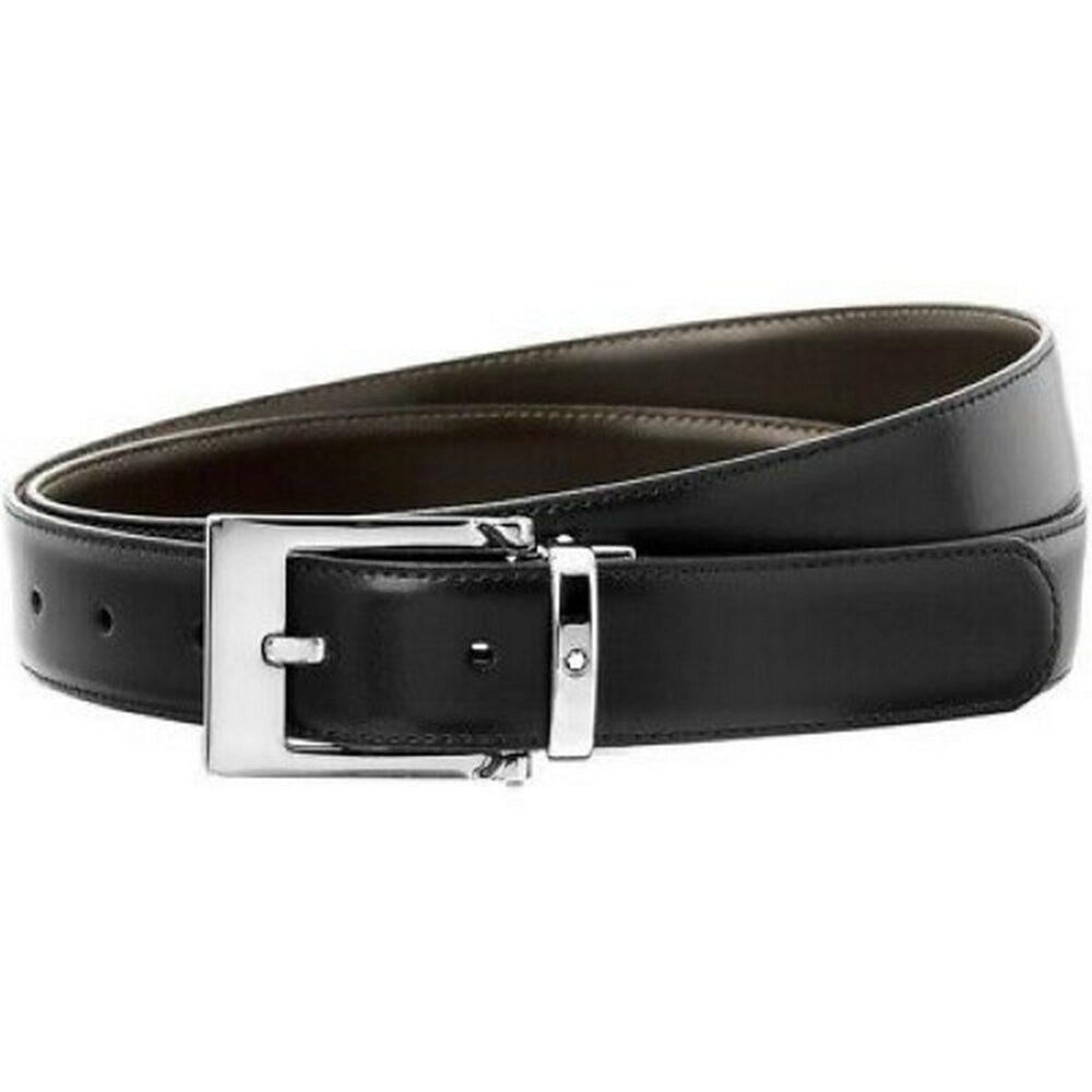 Ремень Montblanc Cintura elegante reversibile marrone – grigia