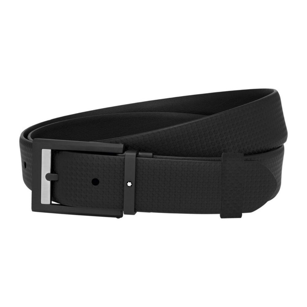 Ремень Montblanc Cintura casual in pelle nera
