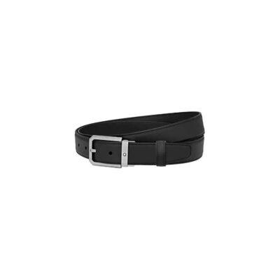 Ремень Montblanc Cintura elegante pelle nera opaca