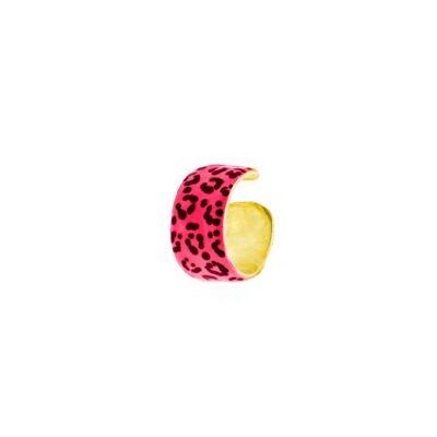 Серьга кафф Rue Des Mille FASCIA GRANDE – SMALTO MACULATO Розовый